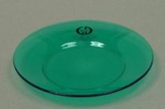 Skleněný podtácek - podložka pod svíčku Round zelený