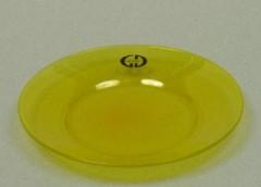 Skleněný podtácek - podložka pod svíčku Round žlutý