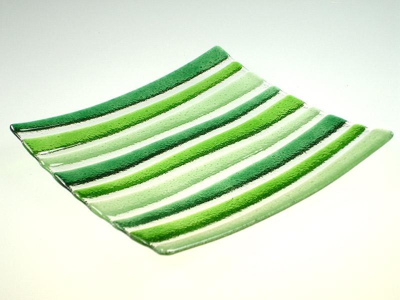 Skleněný podtácek - podložka pod svíčku Design Green L