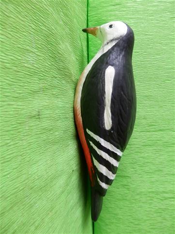 Keramický pták - Strakapoud color