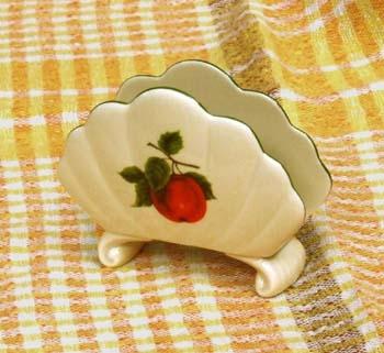 Porcelánový stojánek na ubrousky Ovoce