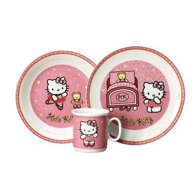 Porcelánová souprava pro děti Hello Kitty v dárkové krabičce