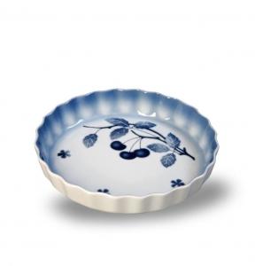 Porcelánová zapékací mísa Modré třešně kulatá - český porcelán Thun