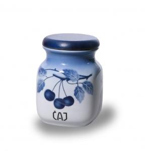 Porcelánová dóza Sůl Modré třešně - český porcelán Thun - Cherry