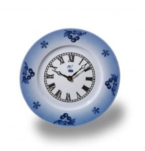 Porcelánové hodiny Talíř Modré třešně - Cherry