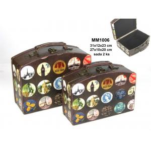 Dřevěný kufřík sada World L