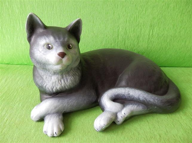 Keramická soška - Kočka domácí color
