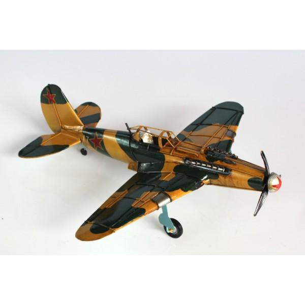 Plechový retro model Letadlo