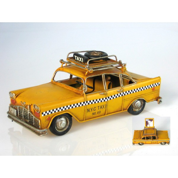 Plechový retro model Auto Taxi