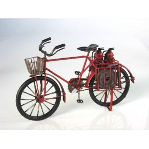 Plechový retro model Kolo hasičské