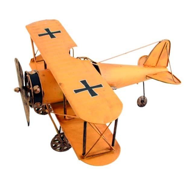 Plechový retro model Letadlo s kříži