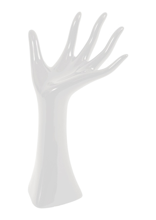 Stojan na šperky - Ruka bílá