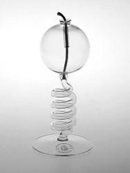 Skleněná lampička na olej Spirála