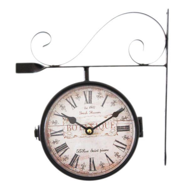 Kovové hodiny Botanique