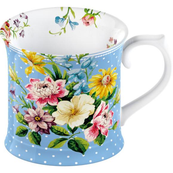 Porcelánový hrnek English garden - blue
