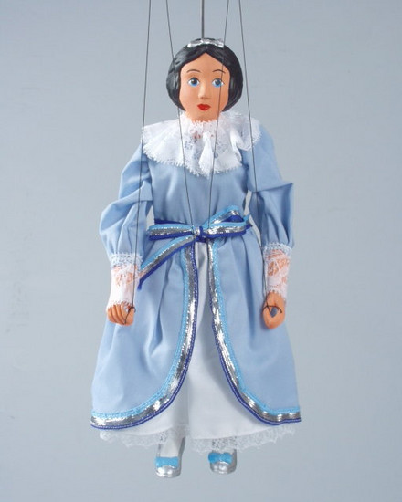 Loutka Princezna modrá 30 cm
