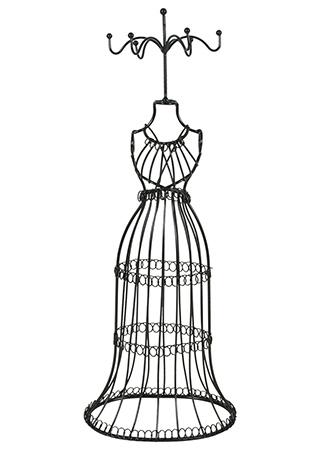 Stojan na prstýnky - Kovová figurína odkladač