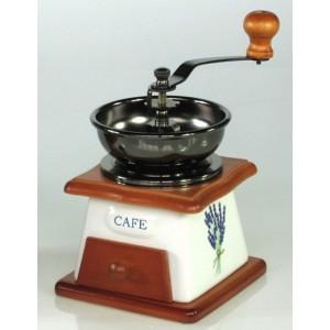 Dřevěný mlýnek na kávu Levandule