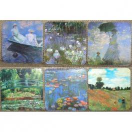 Korkové podtácky - podložky Claude Monet 6 kusů