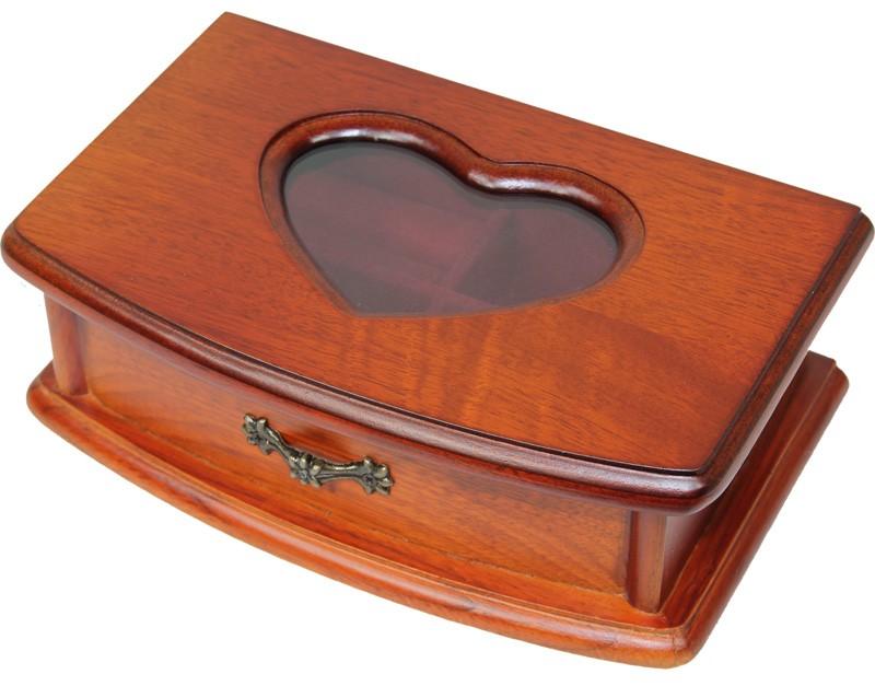 Dřevěná šperkovnice Srdíčko
