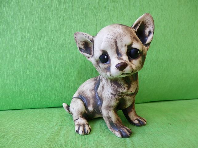 Keramický pes Čivava