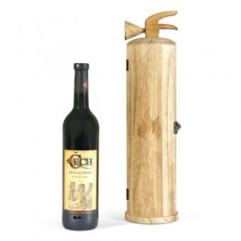 Dřevěný box (truhla) na víno Hasičák