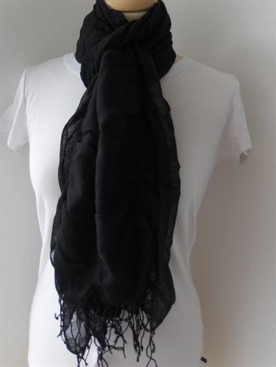 Bavlněný šátek Černý 216