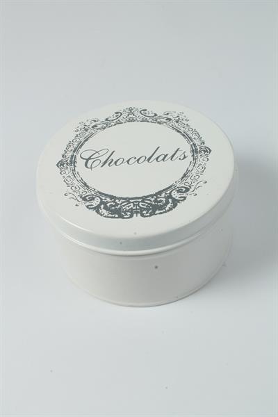 Plechová vintage dóza - plechovka Chocolats