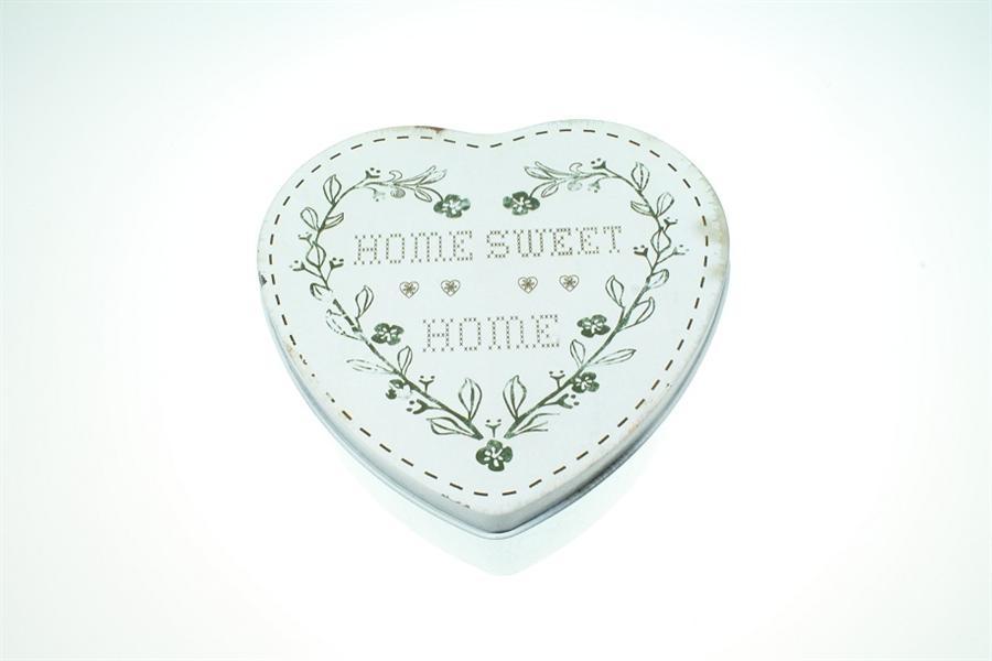 Plechová vintage dóza - plechovka Home sweet home