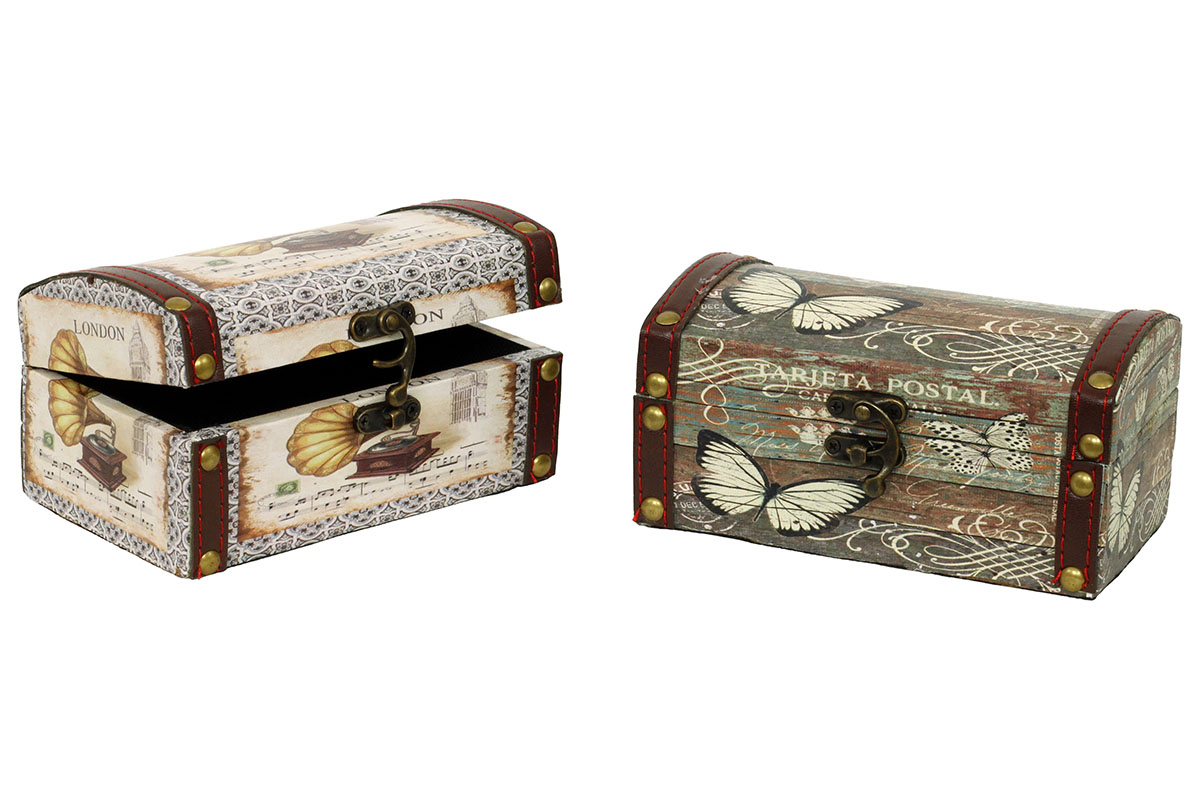 Dřevěná šperkovnice Gramofon
