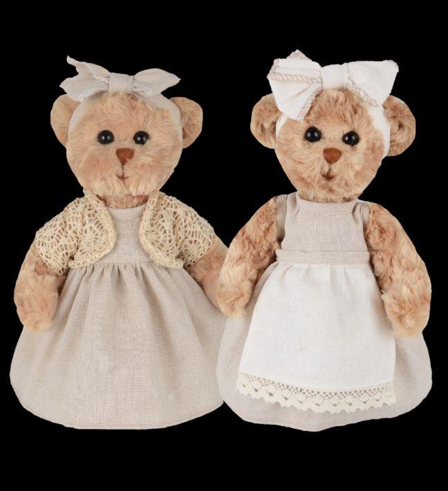 Medvídek Margareta a Rose - béžový