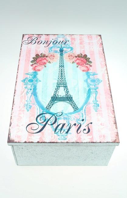Plechová vintage dóza - plechovka Paris
