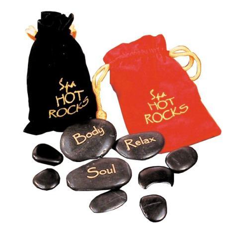 Masážní lávové kameny (horké, teplé)