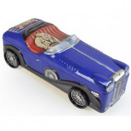 Plechová dóza Retro - Bentley kabriolet modrý