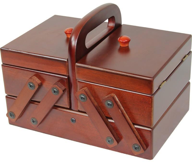 Dřevěná skříňka na šití Madlenka