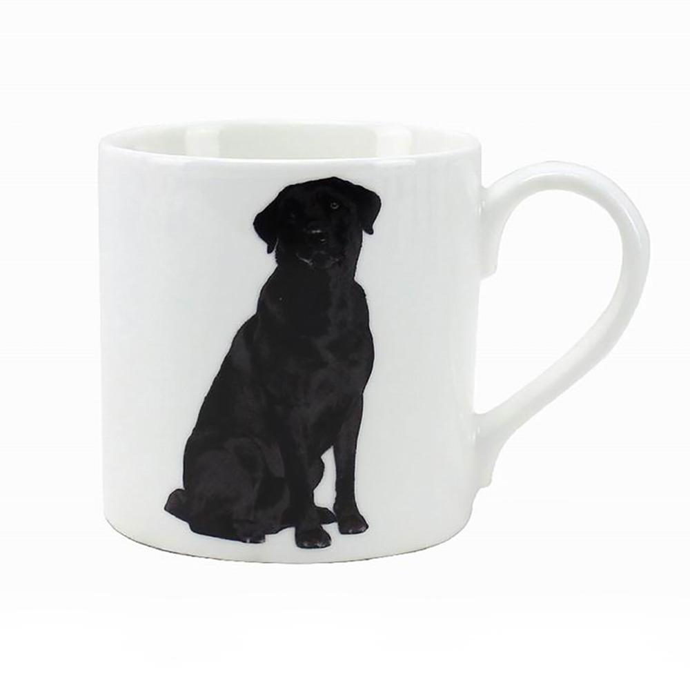 Keramický hrnek Pes Labrador černý
