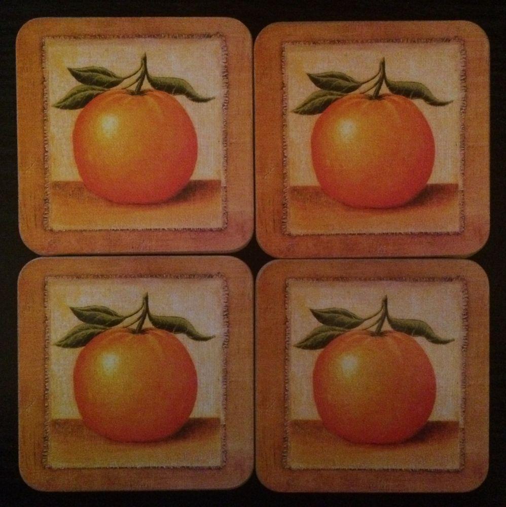 Korkové podložky - podtácky Pomeranč