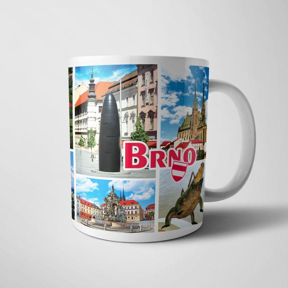 Keramický hrnek Brno - pohlednice