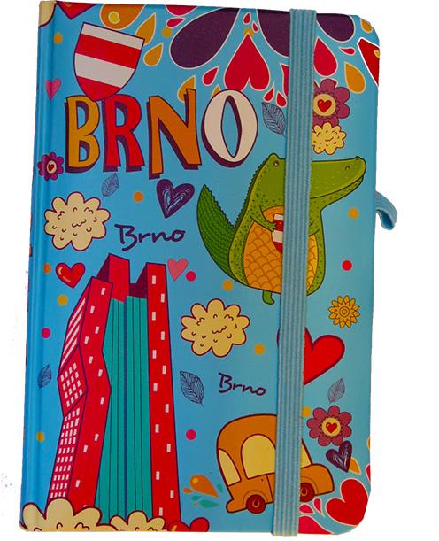 Krásný deníček - zápisník Brno modrý
