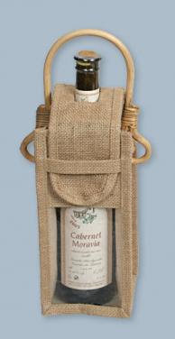Taška na víno s okýnkem zavírací