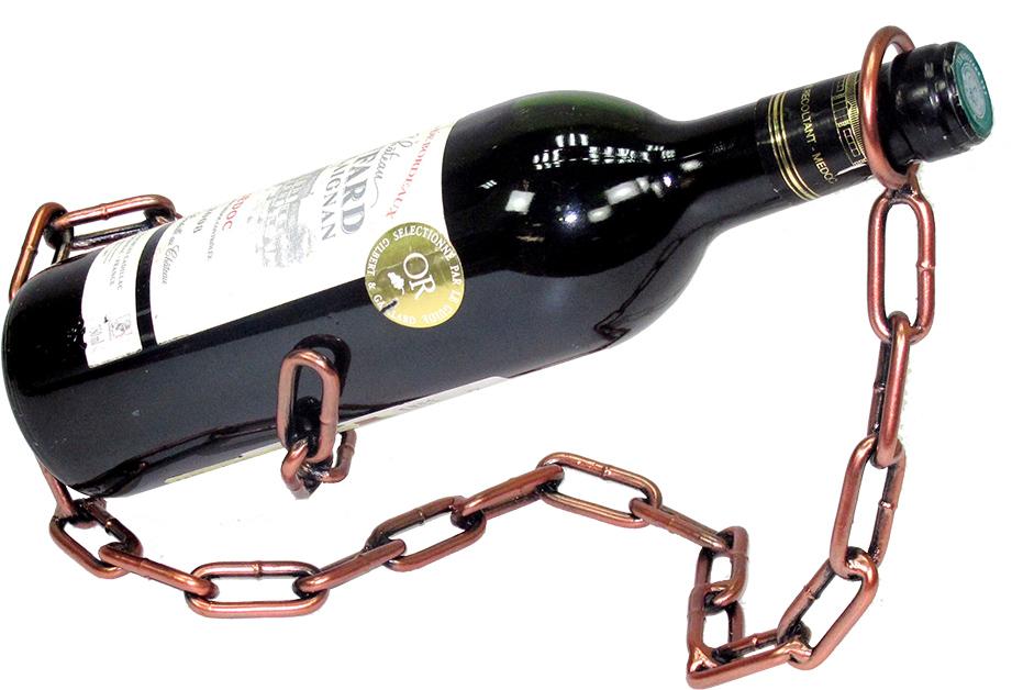 Stojan na víno Řetěz měď