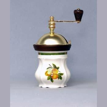 Porcelánový mlýnek Ovoce slonová kost - Český porcelán Dubí