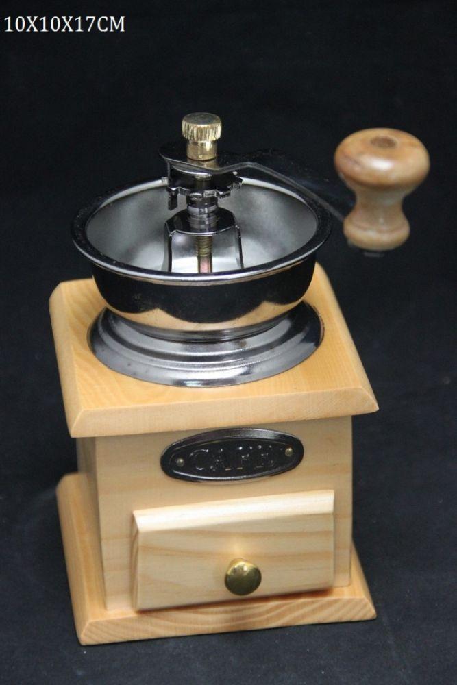 Dřevěný mlýnek na kávu Café světlé dřevo