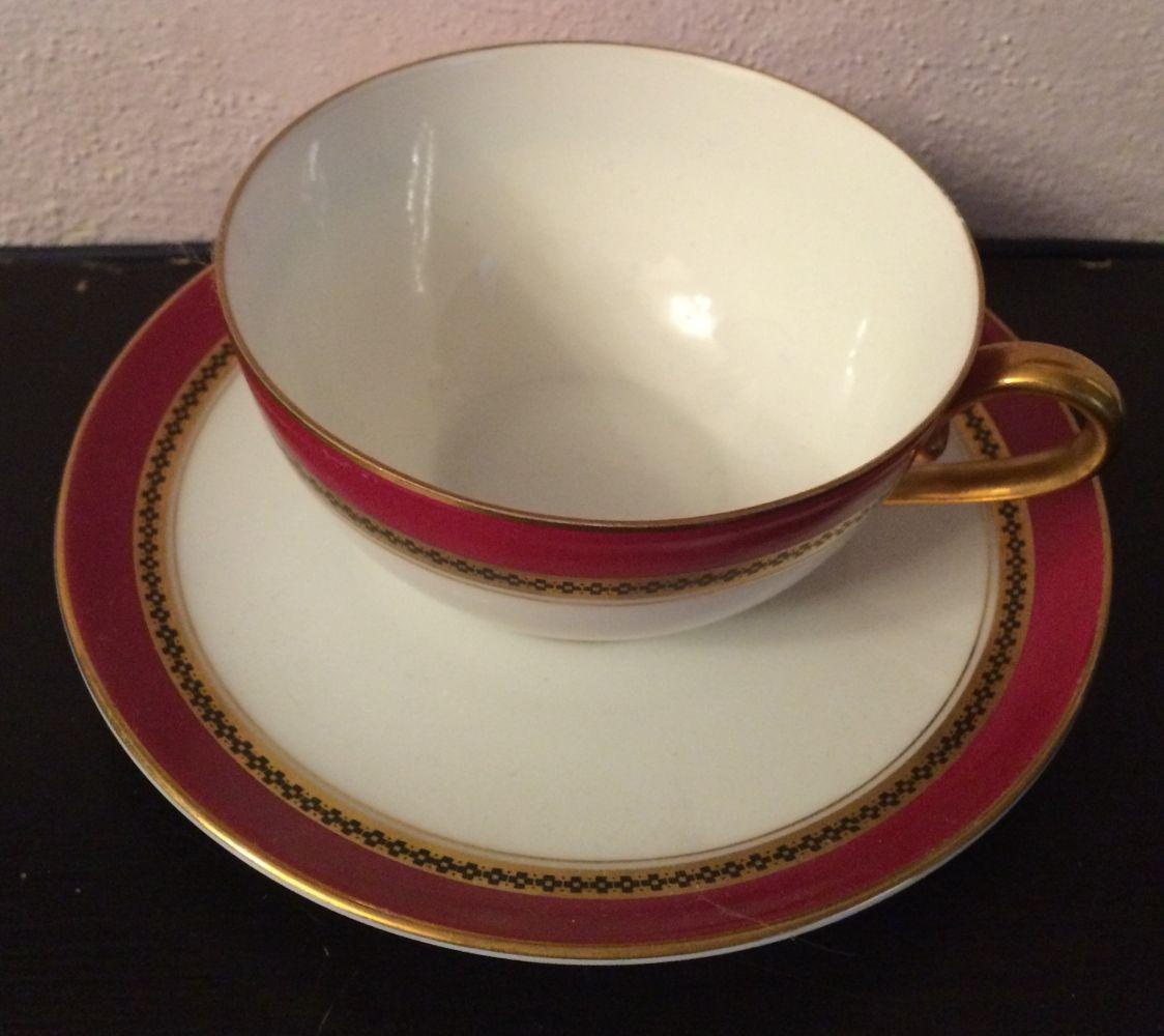 Starožitná porcelánová sada Rosenthal zlatý proužek