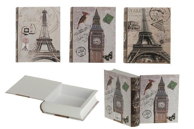 Dárková krabička kniha Paris Eiffelovka