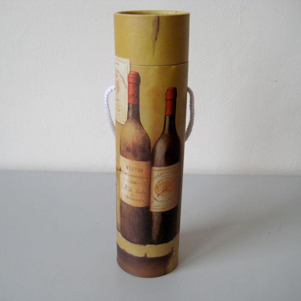 Tuba na víno s motivem lahví