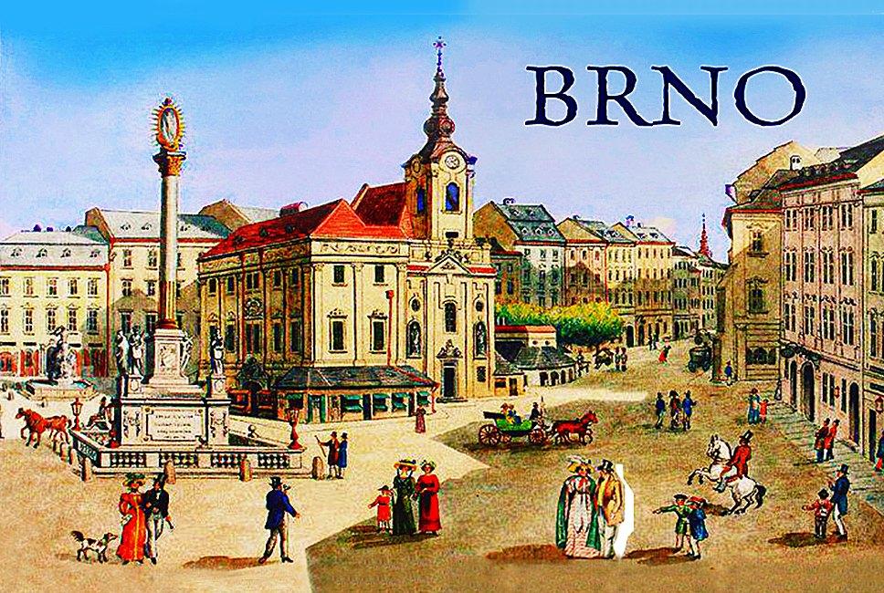 Magnet na ledničku Brno náměstí Svobody retro