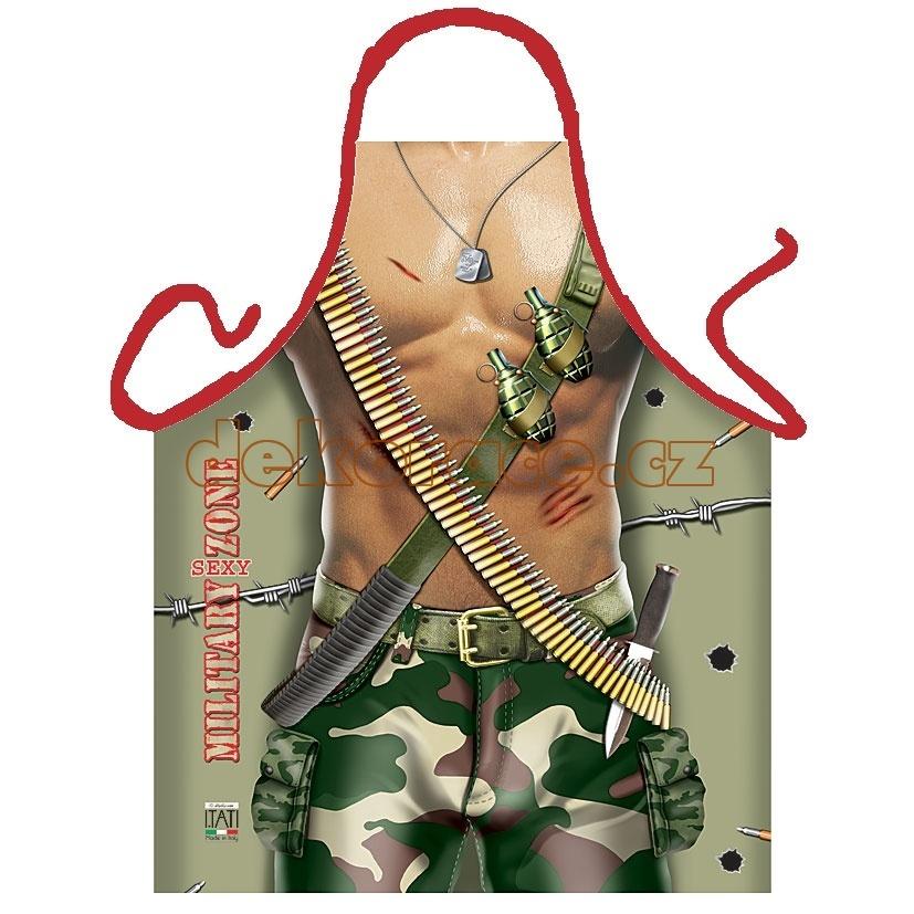 Kuchyňská zástěra Sexy voják