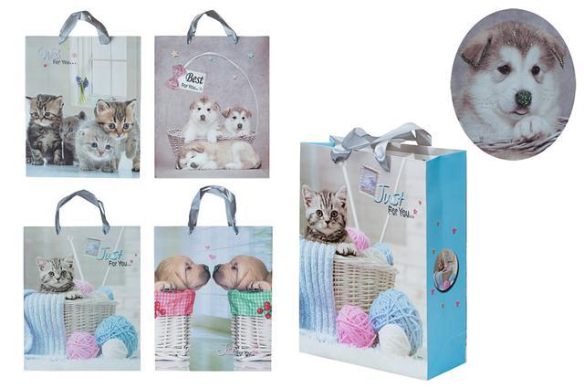 Dárková taška Pejsci a koťátka L