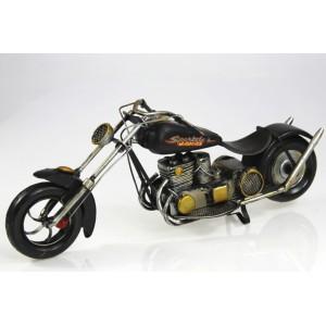 Plechový model Motorka Oheň